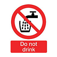 Do not drink Self-adhesive labels, (H)100mm (W)100mm