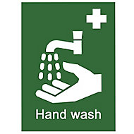 Wash hands Self-adhesive labels, (H)200mm (W)150mm