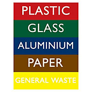 Recycling bin Self-adhesive labels, (H)200mm (W)150mm