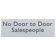 No door to door sales people Self-adhesive labels, (H)50mm (W)150mm