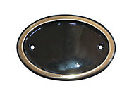 The House Nameplate Company Brass Oval House number, (H)102mm (W)140mm