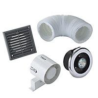 Manrose VDISL100T Bathroom Shower fan kit