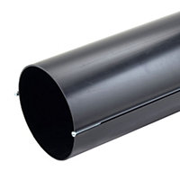 Manrose Black Solid wall duct, (L)0.35m (Dia)150mm