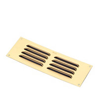 Manrose Gold effect Air vent (H)76mm (W)229mm