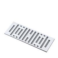 Manrose White Chrome effect Rectangular Adjustable vent & Fly screen, (H)76mm (W)229mm