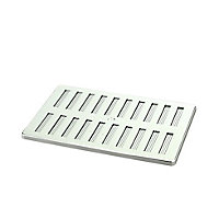 Manrose Chrome effect Rectangular Adjustable vent & Fly screen, (H)152mm (W)229mm
