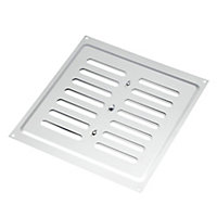 Manrose Chrome effect Rectangular Adjustable vent, (H)229mm (W)229mm
