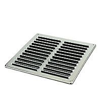 Manrose Chrome effect Square Fixed louvre vent (H)229mm (W)229mm