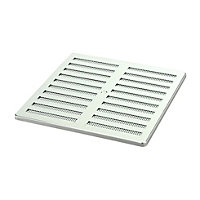 Manrose Chrome effect Rectangular Adjustable vent & Fly screen (H)76mm (W)229mm