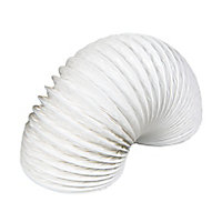 Manrose White PVC Flexible Ducting hose, (L)1m (Dia)100mm