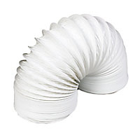 Manrose White PVC Flexible Ducting hose, (L)2.5m (Dia)100mm