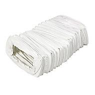 Manrose White PVC Flexible Ducting hose, (L)1m (Dia)110mm