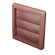 Manrose Brown Square Air vent & gravity flap, (H)125mm (W)125mm