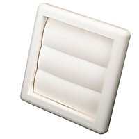 Manrose White Square Air vent & gravity flap, (H)140mm (W)140mm