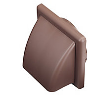 Manrose Brown Square Hooded air vent (H)140mm (W)140mm