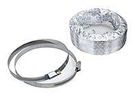 Manrose Aluminium Flexible Ducting hose, (L)1m (Dia)125mm