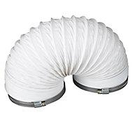 Manrose White PVC Flexible Ducting hose, (L)2.5m (Dia)125mm