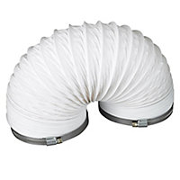 Manrose White PVC Flexible Ducting hose, (L)2.5m (Dia)125mm