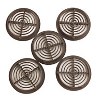 Manrose Brown Air vent, Pack of 5