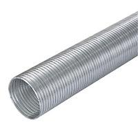 Manrose Silver Semi rigid hose, Pack of 1