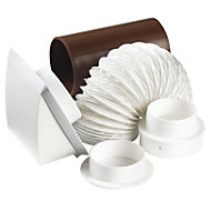 Manrose White Ducting kit