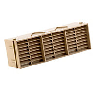 Manrose Beige Rectangular Brick vent (H)76mm (W)229mm