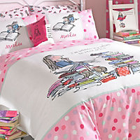 Roald Dahl Matilda Pink Single Bedding set