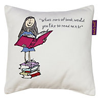 Roald Dahl Matilda Cushion, Multicolour