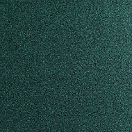 Colours Dark green Loop Carpet tile, (L)50cm
