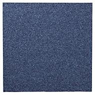 Colours Dark blue Loop Carpet tile, (L)50cm