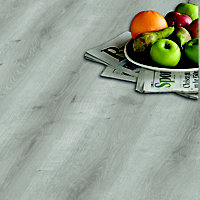 Niagara Grey Oak effect Laminate flooring, 1.49m² Pack