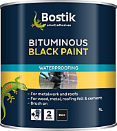Bostik Black Multi-purpose waterproofer, 1L Tin