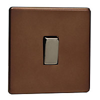 Varilight 10A 2 way Matt mocha Single Light Switch