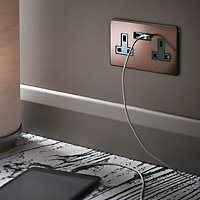 Varilight 13A Mocha USB socket