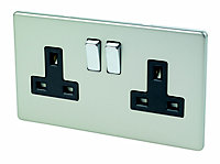 Varilight 13A Double Switched Socket