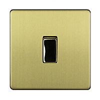 Varilight 10A 2 way Brushed Single Light Switch