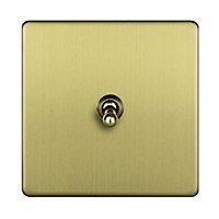 Varilight 10A 2 way Brass effect Single Toggle Switch