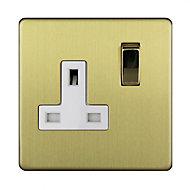 Varilight 13A Single Switched Plug socket