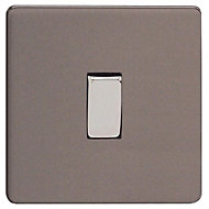 Varilight 10A 3 way Grey Single Intermediate switch