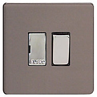 Varilight 13A Slate grey Switched Fused connection unit