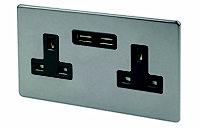 Varilight 13A Grey USB socket