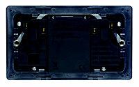 Varilight Black Double USB socket, 2 x 2.1A USB