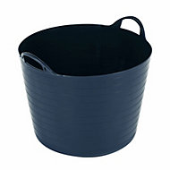 Flexi Heavy duty Navy 40L Plastic Stackable Tuff tub