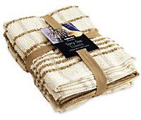 5021961105387 TEA TOWEL BALE MOCHA 3 PACK