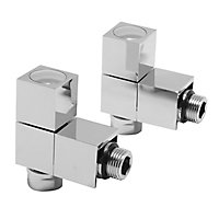 Terrier Decor Chrome Plated Angled Radiator valve