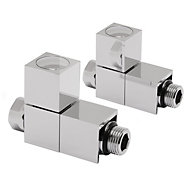 Terrier Decor Chrome Plated Straight Radiator valve