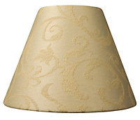 Damask Brushed Cream Candle Light shade (D)70mm