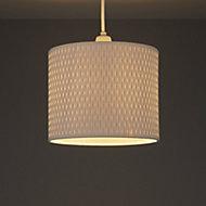 Raffia White Raffie cylinder Light shade (D)210mm