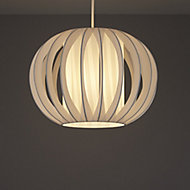White Side pleat onion Light shade (D)320mm