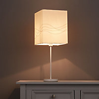 Cream Embroidered Light shade (D)200mm